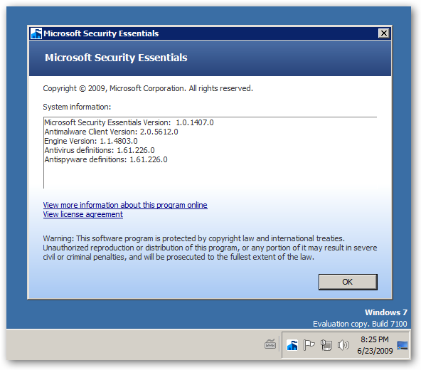 Microsoft Security Essentials Beta 64bit version