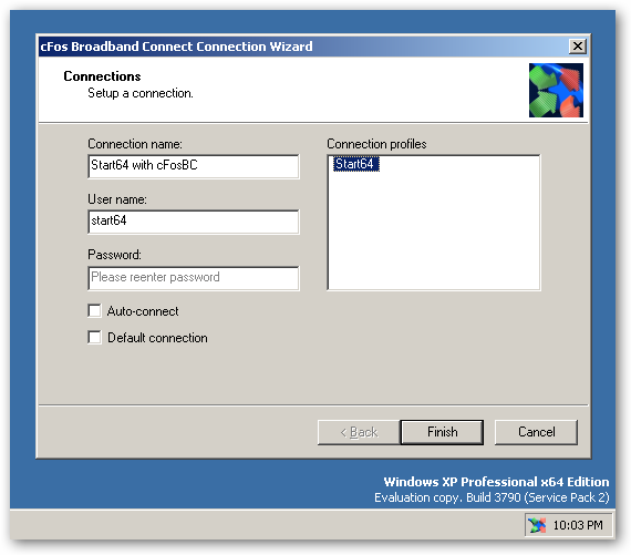 cFosBroadbandConnect (64bit) full screenshot