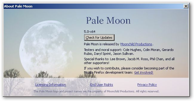 Pale Moon 64bit version