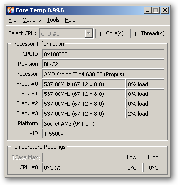 Core Temp 64bit version