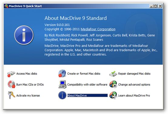 MacDrive 64bit version