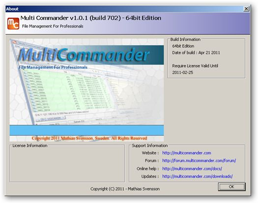 Multi Commander 64bit version