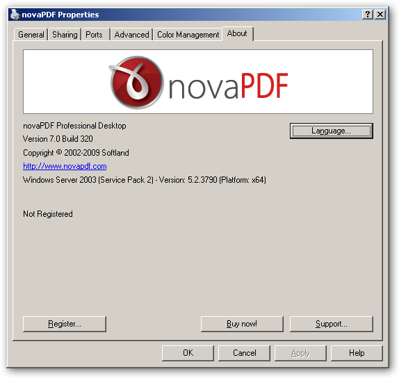 novaPDF - Compatibility with 64-bit operating systems