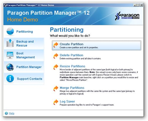 Paragon Partition Manager - 64-bit Support