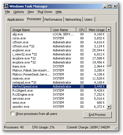 PerfectSpeed PC Optimizer 64bit version