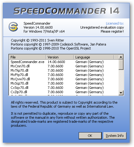 SpeedCommander 64bit version