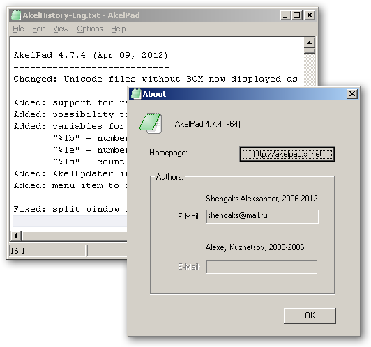 AkelPad 64bit version