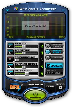 DFX for Windows Media Player 64bit version