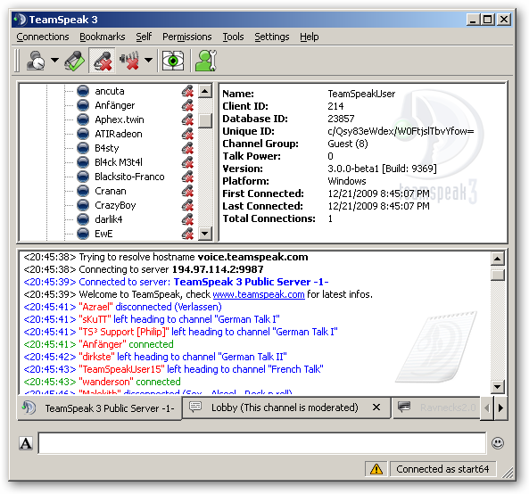 TeamSpeak 64bit version