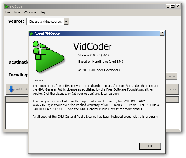 VidCoder 64bit version