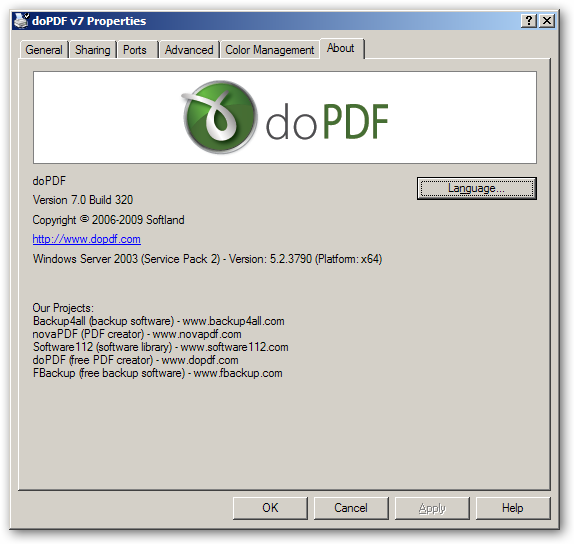 DOPDF V7 WINDOWS 7 DRIVER DOWNLOAD