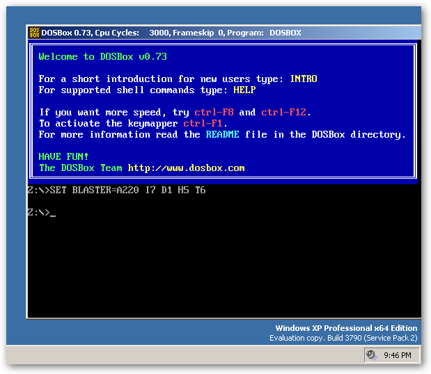 DOSBox, a x86 emulator with DOS under 64bit