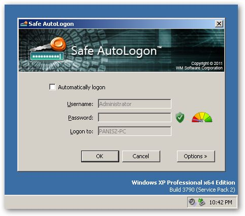 Safe AutoLogon - under x64