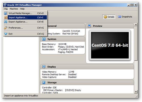 CentOS 7.0 64-bit VirtualBox Virtual Machine