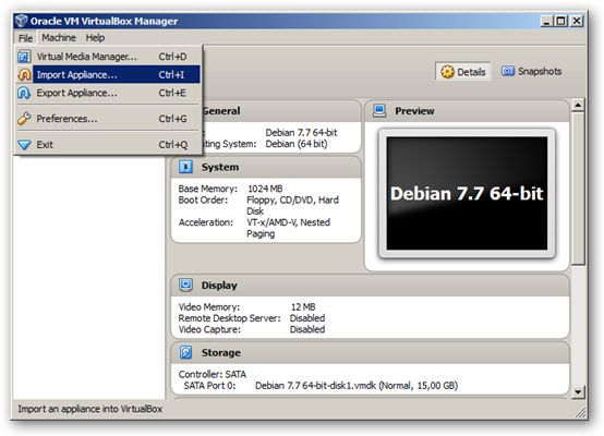 Debian 7.7 64-bit VirtualBox Virtual Machine