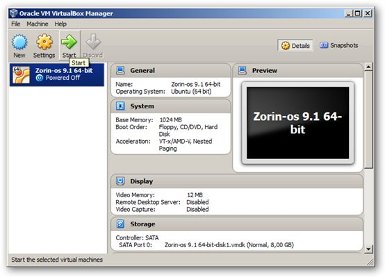 Zorin OS 9.1 64-bit VirtualBox Virtual Machine