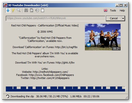 3D Youtube Downloader 64-bit version