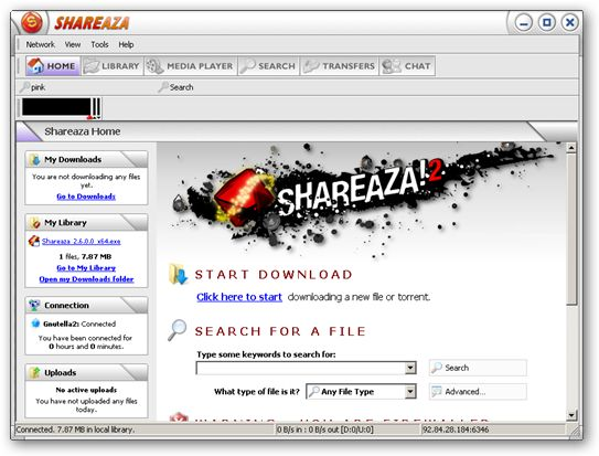 Shareaza 64-bit version