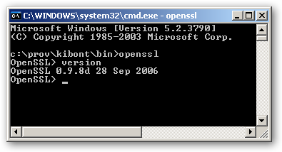 OpenSSL for Windows x64 version