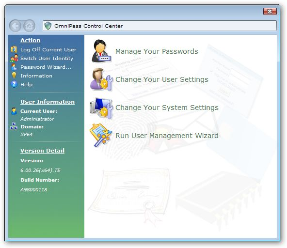 OmniPass Client Edition 64bit version