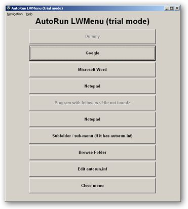 AutoRun LWMenu 64bit version