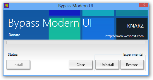 Bypass Modern UI 64bit version