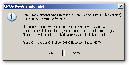 CMOS De-Animator 64bit version