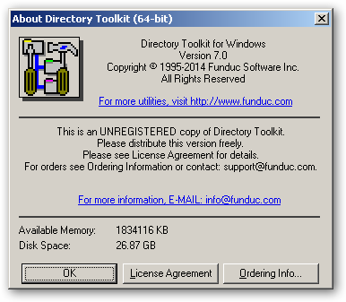 Directory Toolkit x64 version