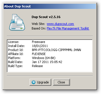 DupScout 64bit version