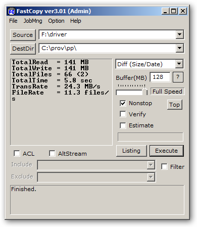 FastCopy 64-bit version