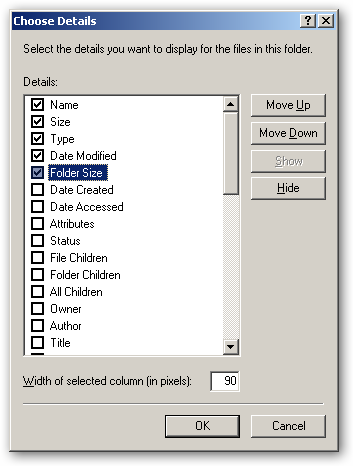 Folder Size for Windows - under x64