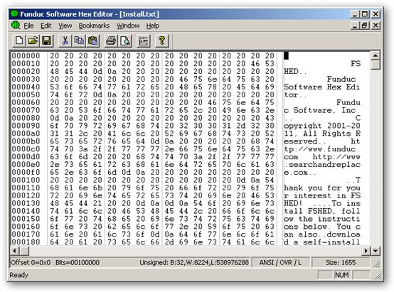 FS Hex Editor 64bit version