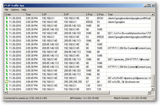 IP Traffic Spy 64bit version