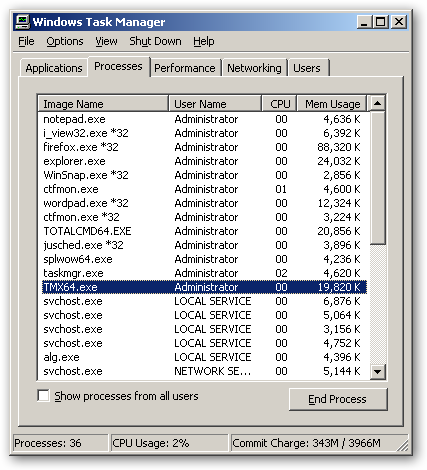 MiTeC Task Manager DeLuxe 64bit version