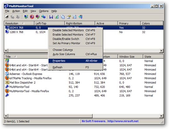 MultiMonitorTool 64bit version