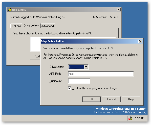 OpenAFS for Windows 64bit version