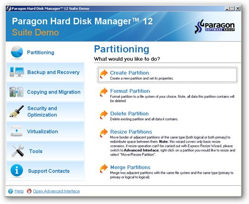 Paragon Hard Disk Manager under 64bit