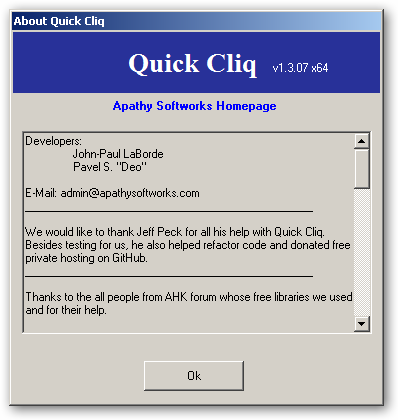 Quick Cliq 64bit version