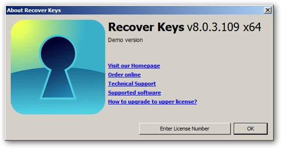 Recover Keys 64-bit version