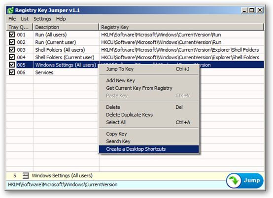Registry Key Jumper 64-bit version
