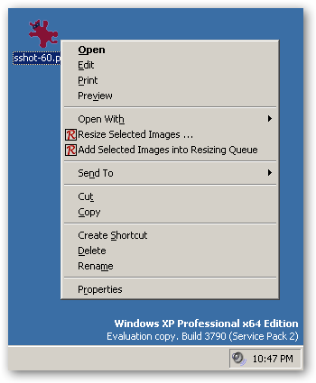 Right Click Resizer 64bit version