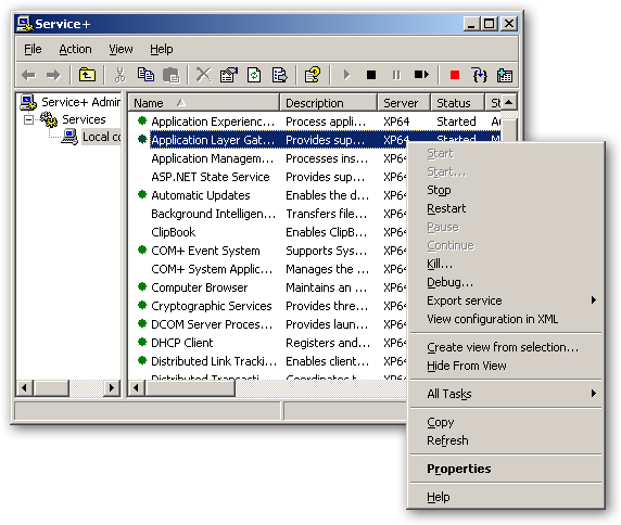 Service+ for Windows XP/2003 x64 Editions