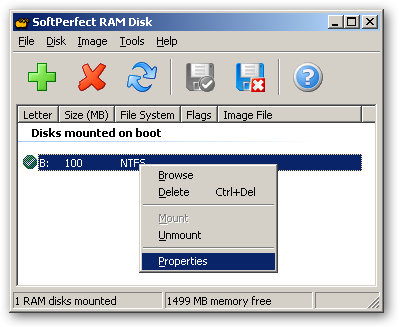 SoftPerfect RAM Disk 64bit version