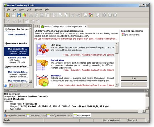 USB Monitor Professional 64bit version
