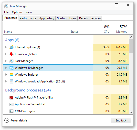 Windows 10 Manager 64-bit version