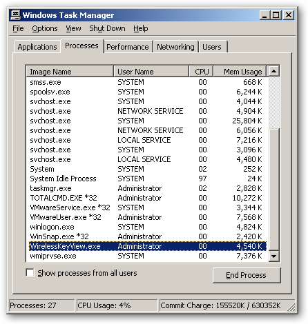 WirelessKeyView x64 version - Recover lost wireless network key