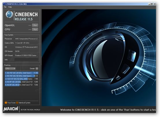 CINEBENCH 64bit version