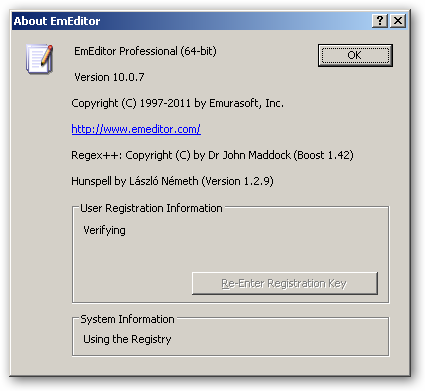 EmEditor 64bit version