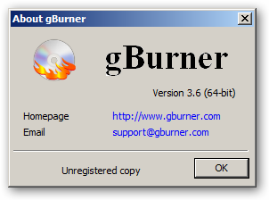 gBurner 64-bit version