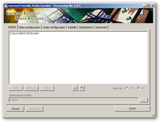 Internet Friendly Media Encoder 64-bit version